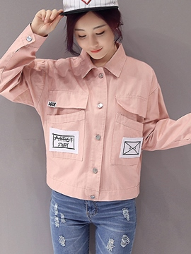 Ericdress Casual Loose Letters Jacket