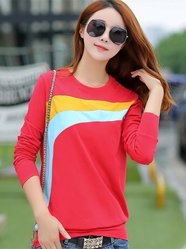 Ericdress Casual Color Block T-Shirt
