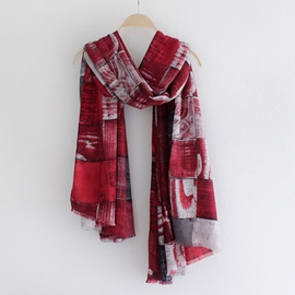 Ericdress Graffiti Print Cotton Scarf