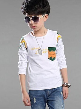 Ericdress Print Boys Long Sleeve T-Shirt