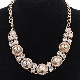 Ericdress Alloy Plated Crystal Glass Necklace