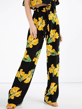Ericdress Unique Flower Print Pants