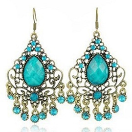 Ericdress Vintage Tassel Hollow Earrings