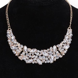 Ericdress Crystal Glass Gold Plated Necklace
