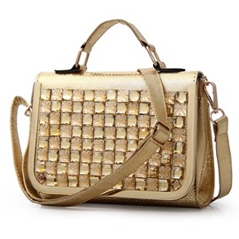 Ericdress Shiny Diamante Handbag