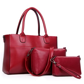 Ericdress Classic Celebrity Solid Color Handbags(3 Bags)