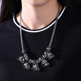 Ericdress Triangle Design Zircon Necklace