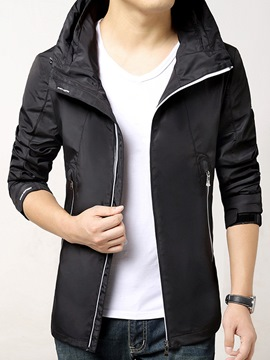 Ericdress Zip Hood Casual Men's Jacket