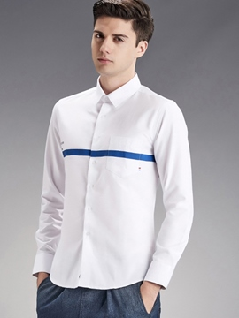 Ericdress Long Sleeve Chest Stripe Quality Men's Shirt