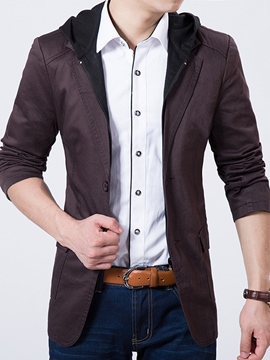 Ericdress Patchwork Double-Layer Vogue Casual Men's Blazer