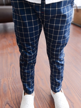 Ericdress Plaid Boys Casual Pants