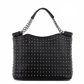 Ericdress Full Rivets Decorated Bucket Handbag
