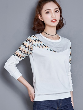 Ericdress Color Block Geometric Loose Casual T-Shirt