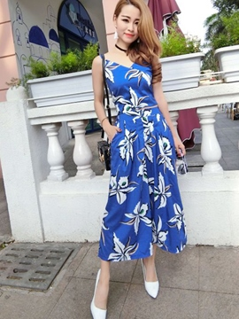 Ericdress Casual Floral Print Two-Piece Suit