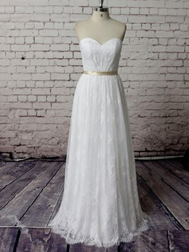 Ericdress Beautiful Sweetheart A Line Lace Wedding Dress