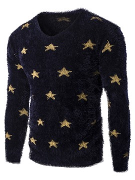 Ericdress Star Pattern Crew Neck Warm Men's Sweater