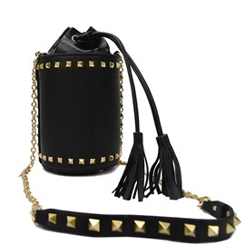 Ericdress Rivets Chain Decorated Crossbody Bag