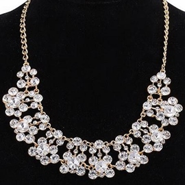 Ericdress Crystal Glass Inlaid Alloy Necklace