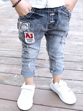 Ericdress Elastic Waistband Picture Patchwork Boys Bottoms