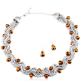 Ericdress Elegant Crystal Necklace and Earrings