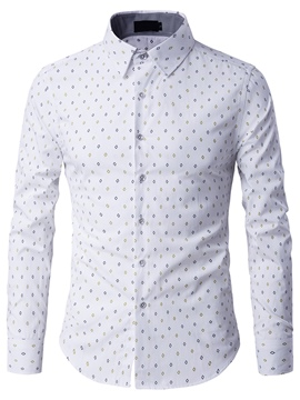 Ericdress Vogue Print Men's Shirt