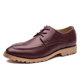 Ericdress PU Studded Square Heel Men's Oxfords