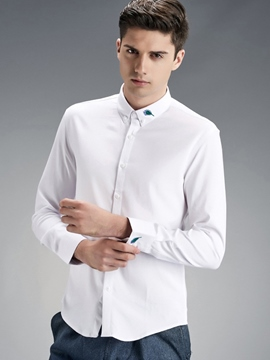Ericdress Vogue Embroidery Quality Men's Shirt