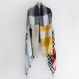 Ericdress Colorful Plaid Cotton Scarf