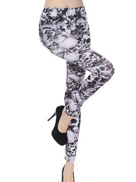 Ericdress Skull Print Leggings Pants