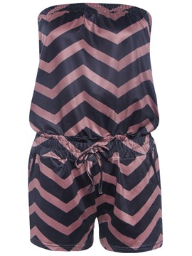 Ericdress Wave Pattern Strapless Rompers