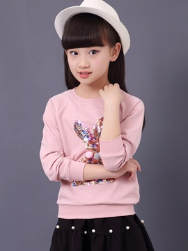 Ericdress Sequins Long Sleeve Girls T-Shirt