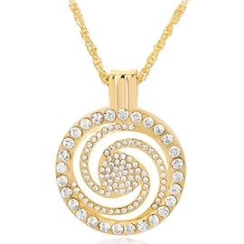 Ericdress Circle Hollow Diamante Pendant Necklace