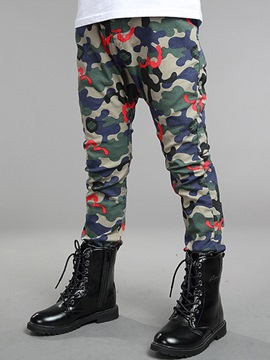 Ericdress Color Block Camouflage Boys Casual Pants