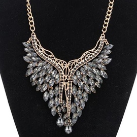 Ericdress Graceful Crystal Glass Pendant Necklace