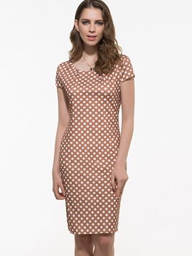 Ericdress Polka Dots Bodycon Dress