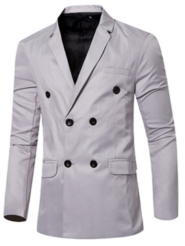 Ericdress Plain Double-Breasted Casual Men's Blazer