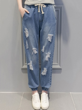 Ericdress Loose Ripped Jeans