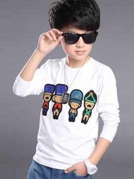 Ericdress Cartoon Print Long Sleeve Boys Tops