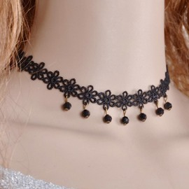 Ericdress Black Lace Choker Necklace