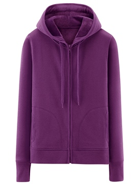 Ericdress Simple Solid Color Cool Hoodie