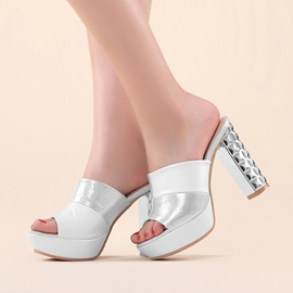 Ericdress Noble Patchwork Peep Toe Mules Shoes