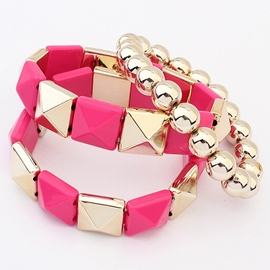 Ericdress Multilayer Geometric Elastic Bracelet