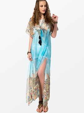 Ericdress Stylish Short Sleeve Bohemia Maxi Dress