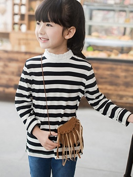 Ericdress Long Sleeve Stripe Girls T-Shirt