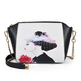 Ericdress Korean Figure Print Crossbody Bag