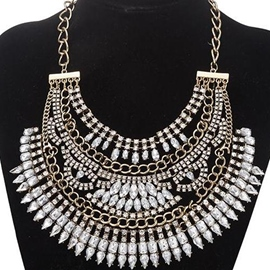 Ericdress European Rhinestone Decorated Necklace