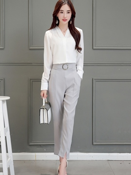 Ericdress Simple Split Pants Suit