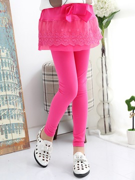 Ericdress Solid Color Double-Layer Girls Leggings