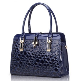 Ericdress Bubble Embossed Cross Pattern Handbag