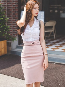 Ericdress Simple Sweet Blouse Suit